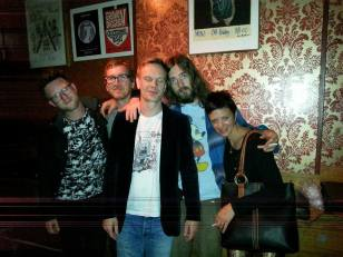 The Cush and label manager Dan at Café Mono, Oslo, Norway